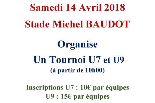 Affiche tournoi du 14 Avril 2018