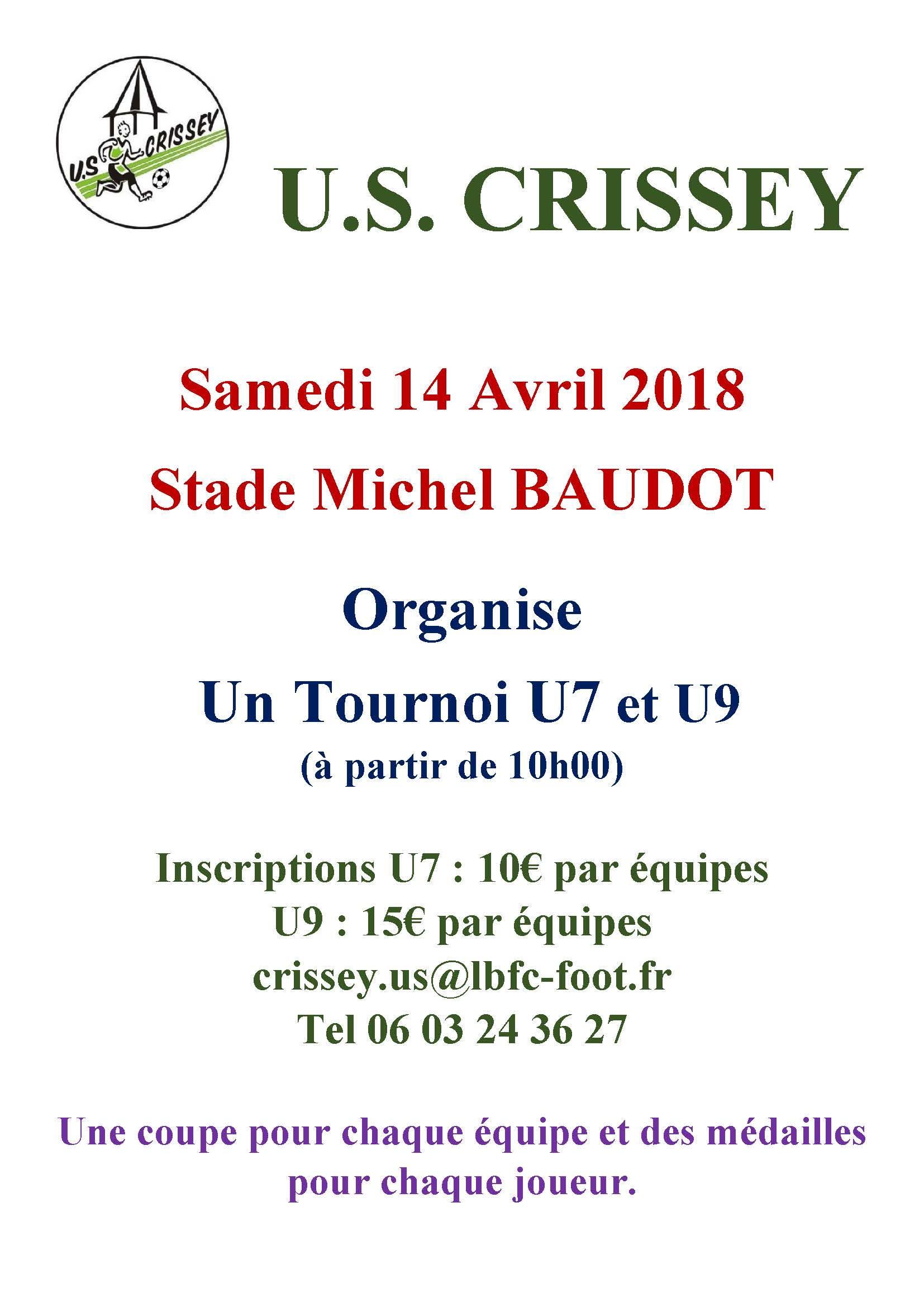 Affiche tournoi du 14 Avril 2018