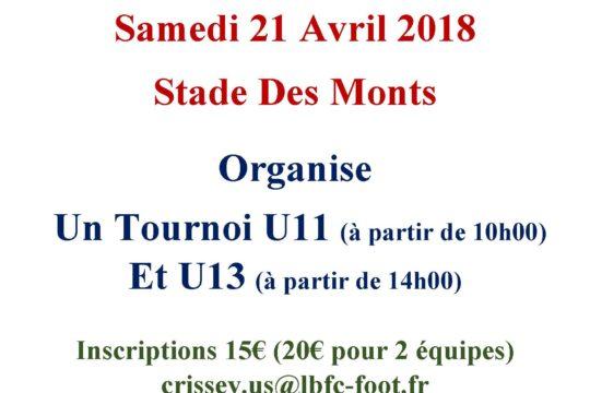 Affiche tournoi du 21 Avril 2018