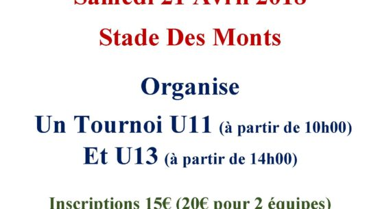 Affiche tournoi du 21 Avril 2018
